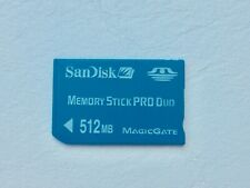 Sandisk Memory Stick Pro Duo 512MB FREE UK P&P