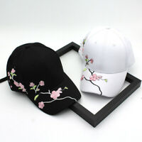 New Women Girls Baseball Cap Embroidery Flower Snapback Hat Outdoor Casual Cap