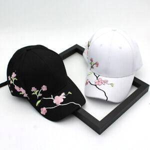 New Women Girls Baseball Cap Embroidery Flower Snapback Hat Outdoor Casual Cap