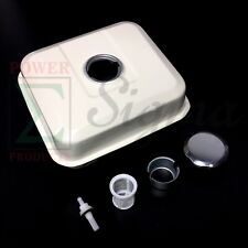 Fuel Tank Gas For Honda GX160 Engine 5.5HP With Petcock Gas Cap Filter White