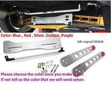 Rear Lower Control Arm Subframe Brace Tie Bar For Honda 02-06 SI set kit Silver