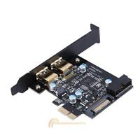 PCI-E to USB 3.0 2 Port PCI Express Expansion Card 19-Pin Power Connector