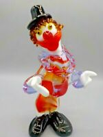 Mid Century Murano Italy Glass Clown Sculpture Exc!
