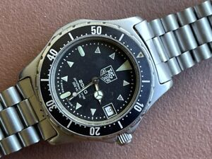 Vintage Heuer 2000 200M Professional Divers 973.006 Rotating Bezel JUST SERVICED
