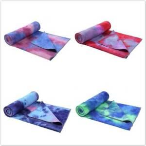Non-slip Printed Yoga Towel Travel Mat Soft Blankets Gym Quick Dry LL