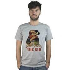 T-Shirt Film Il Monello, grigia con immagine locandina Cinema, Charlie Chaplin