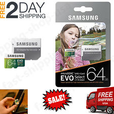 64GB MICRO SD CARD 100MB/s (U3) EVO Select Class 10 HTC Samsung Galaxy Note 8 S8