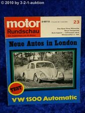 Motor Rundschau 23/67 VW Käfer 1500 Automatic