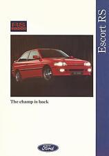 Ford Escort RS 2000 2.0 DOHC 16v UK Market Brochure October 1991 FA 1031