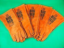 5 Pair SML Genuine BIG RED Welding Gloves Denim lined Kevlar gloves OZZY Seller