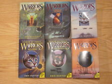 Mixed Lot of 6 WARRIORS BY ERIN HUNTER Power of Three New Prophecy BOOKS