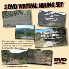 5 DVD VIRTUAL HIKING SET, Great for use with any Treadmill or Exercise Machine
