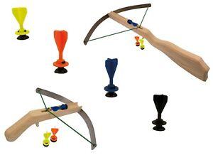 Ritter-Armbrust Knappen-Armbrust mit Mini Bolzen Kinder Holz Sportgerät