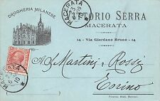 5621) MACERATA, DROGHERIA MILANESE DI VITTORIO SERRA. VG NEL 1909.
