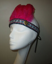 FUNKY PINK FEATHER NATIVE INSPIRED HIPPIE BOHO RAVE EDC HEADPIECE HEADBAND