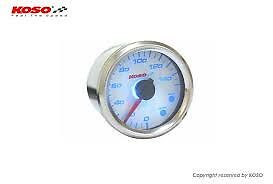 KOSO D48 Temperature Motorcycle Gauge inc sender - waterproof and Illuminated