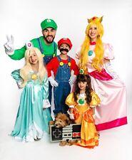 Mario Bros. Costume Gown Dress Girls Halloween ~Princess Daisy~ Child Size 6/7
