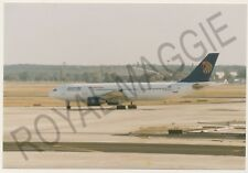 Colour print of Egypt Air Airbus A300 622R SU-GAZ at Frankfurt in 1997