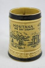 """cc   Montana State Small Stein Cup Virginia City 4"""" tall"""