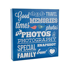 Large Blue Slip in Ring Binder Travel Memories 6'x4' 500 Photos Album AL-9573