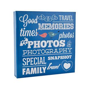 Large Blue Slip in Ring Binder Travel Memories 6'x4' 500 Photos Album AL-9573
