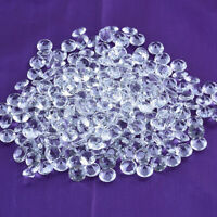 LONGWIN 50pcs 12mm Clear Crystal Diamond Table Scatter Glass Wedding Party Decor