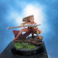 Painted Fenryll Miniature Amazon Warrior