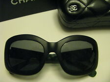 NEW  AUTHENTIC CHANEL 6048 c1481/Z7  POLARISED SUNGLASSES MAT BLACK GREEN
