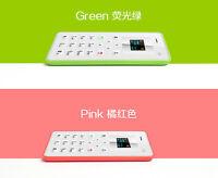 Alarm Clock   Thin  HOT Simple Mini Pocket Card Cell Phone AIEK M5 Cell Phone