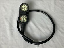 US Divers Aqualung Pivot 3 Gauge Console with SPG, Depth, Temp no Compass Metric