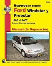Ford Windstar, Freestar y Mercury Monterey Haynes Manual de Reparacion por Winds