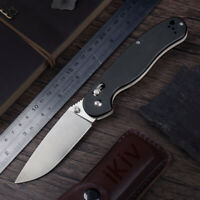 Ontario Rat 1 AUS-8 Blade G10 Handle black satin finished Folding Knife new