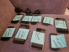 Lot of 9 Used Cell Phones with 3 Chargers Samsung LG Alcatel ZTE Read Descriptio