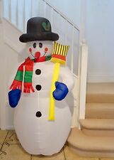 Inflatable Snowman 1.8 metres Tall. Outdoors or Indoors. patio xmas decoration