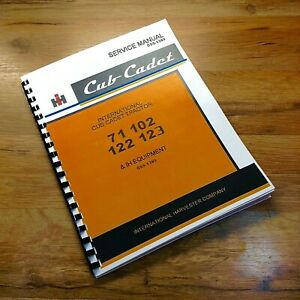 International Cub Cadet 71 102 122 123 Garden Tractor Mower Service Shop Manual