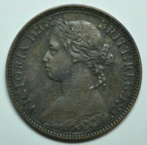 mw16407 Great Britain; Farthing 1875 Victoria   KM#753    Rare in Higher Grade !