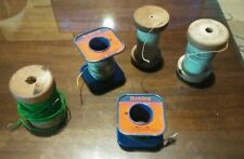 Vintage Cloth Covered Belden & Others Wire, Tube Radio Repair, 5 spools