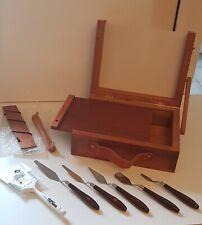 "L.Cornelissen & Son New Pochade 10x8 Wooden Art Box Bob Ross Brush 2"" Palette"