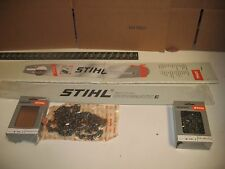 "Stihl 3002 001 8041 28in Duromatic E Chainsaw Bar 28"" Hard nose 2 Chains ms660"