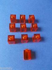 LEGO 10 x STEIN GLASSTEIN 1 x 1 TRANSPARENT ORANGE 30071/4166055 NEU B7