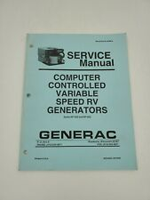 Generac Service Manual Computer Controlled Variable Speed RV Generators 94468-A
