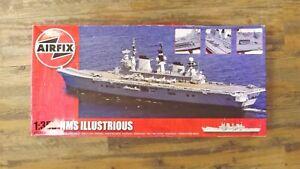 Airfix Model Kit 1:350 HMS Illustrious Aircraft Carrier Unopened