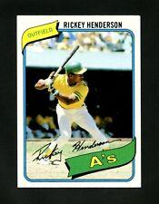 1980 Topps #482 Rickey Henderson Oakland Athletics HoF ROOKIE RC CENTERED NM+ !