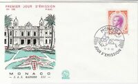 Monaco 1966 Celebrating Prince Rainier III Palace Pic FDC Stamp Cover Ref 26408