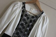 Review Black Ivory French Maid Lace Jersey knit Dress Size 8 New Cocktail Career