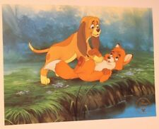 Lithographie Walt Disney - Rox et Rouky - Litho Exclusive Commémorative