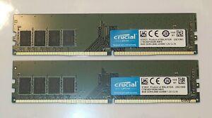 Crucial , 16 Go (2x8 ), 2666 , DDR4  , 1.2V , non ECC , Neuf