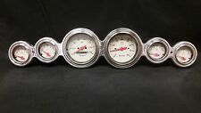 6 GAUGE STREET ROD HOT ROD UNIVERSAL DASH CLUSTER SHARK