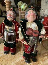 Two Christmas Old Folks Musicans-rare Find