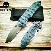 Folding Knife G10 Handle Tactical Hunting Survival Pocket Knives Combat Camping